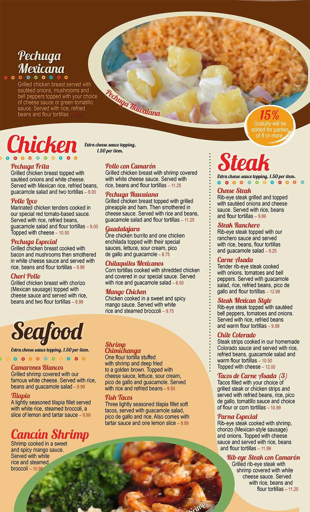 Chicken Ala Carte